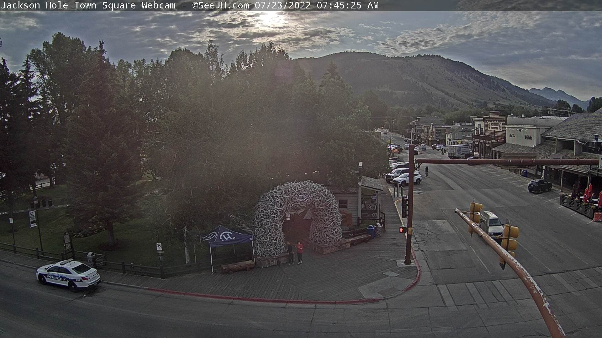 Jackson Hole Town Square Southwest Webcam Image